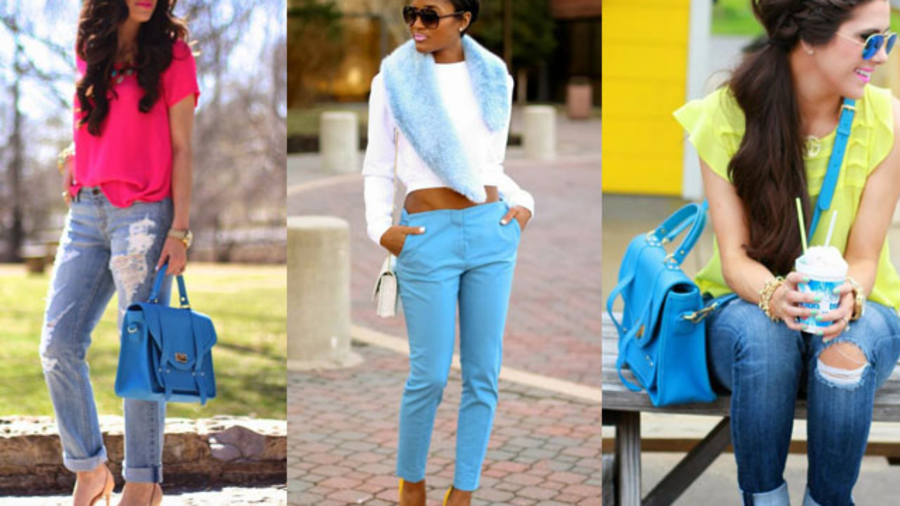 colors that go with blue clothes
