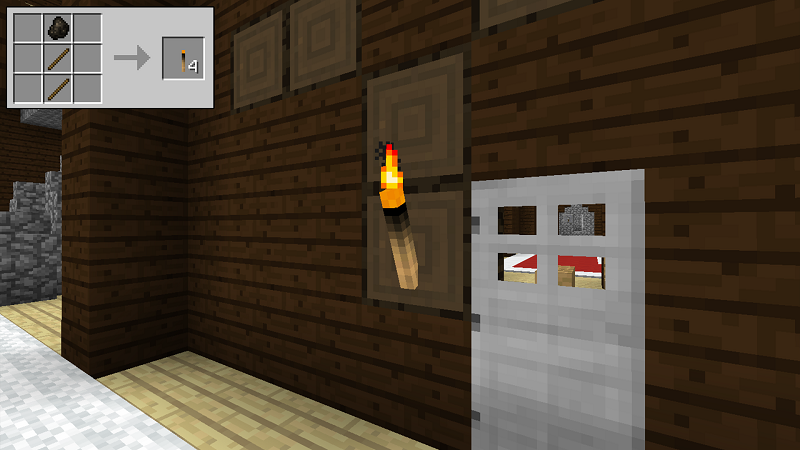 How to make a torch in minecraft
