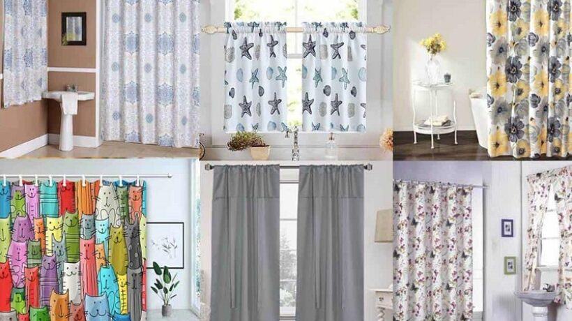Bathroom Curtains: Types of fabrics and Ideas to decorate